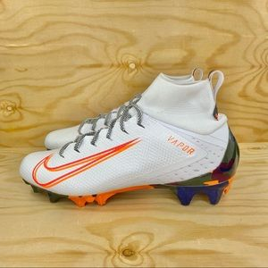 Nike Vapor Untouchable Orange Camo Football Cleats
